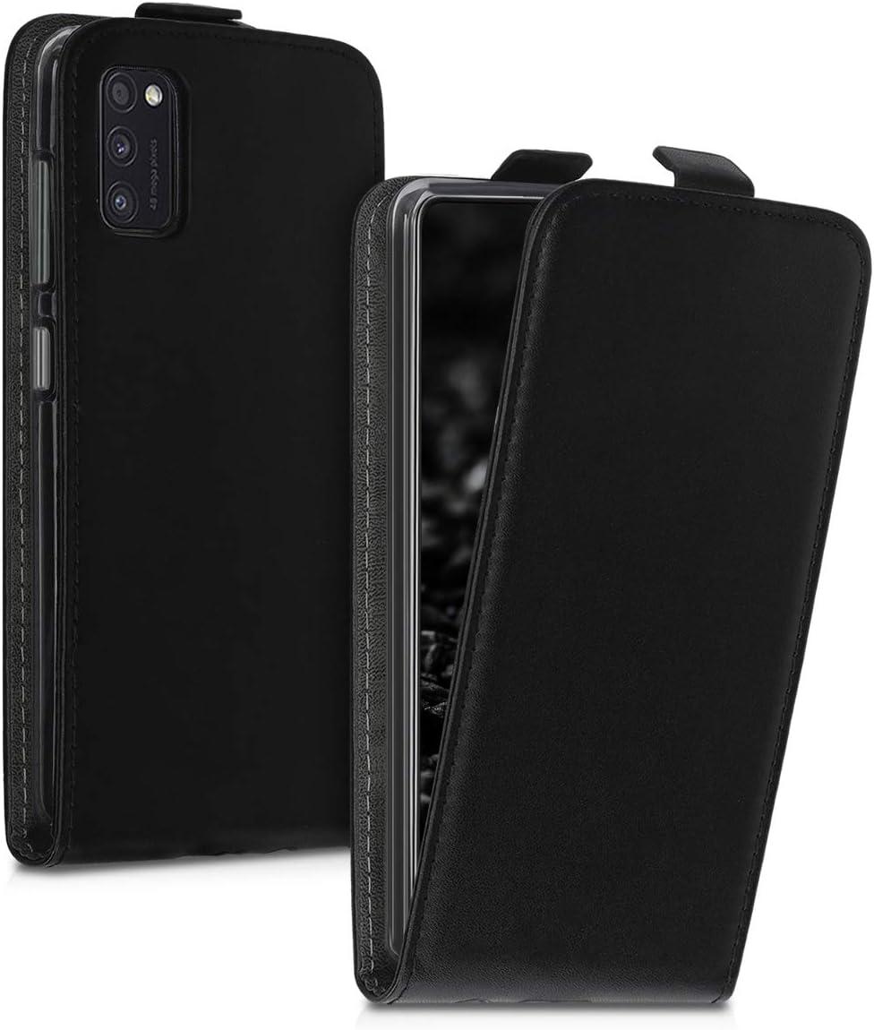 Carcasa para m/óvil de Cuero sint/ético kwmobile Funda Compatible con Samsung Galaxy A41 Case en Negro