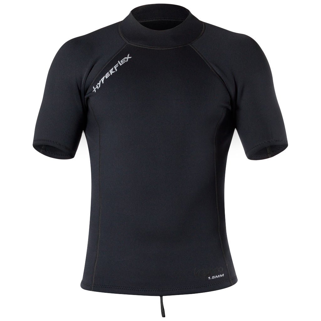 Hyperflex Wetsuits Men's Voodoo 1.5mm Short Sleeve Pullover Jacket, Black,Medium by Hyperflex
