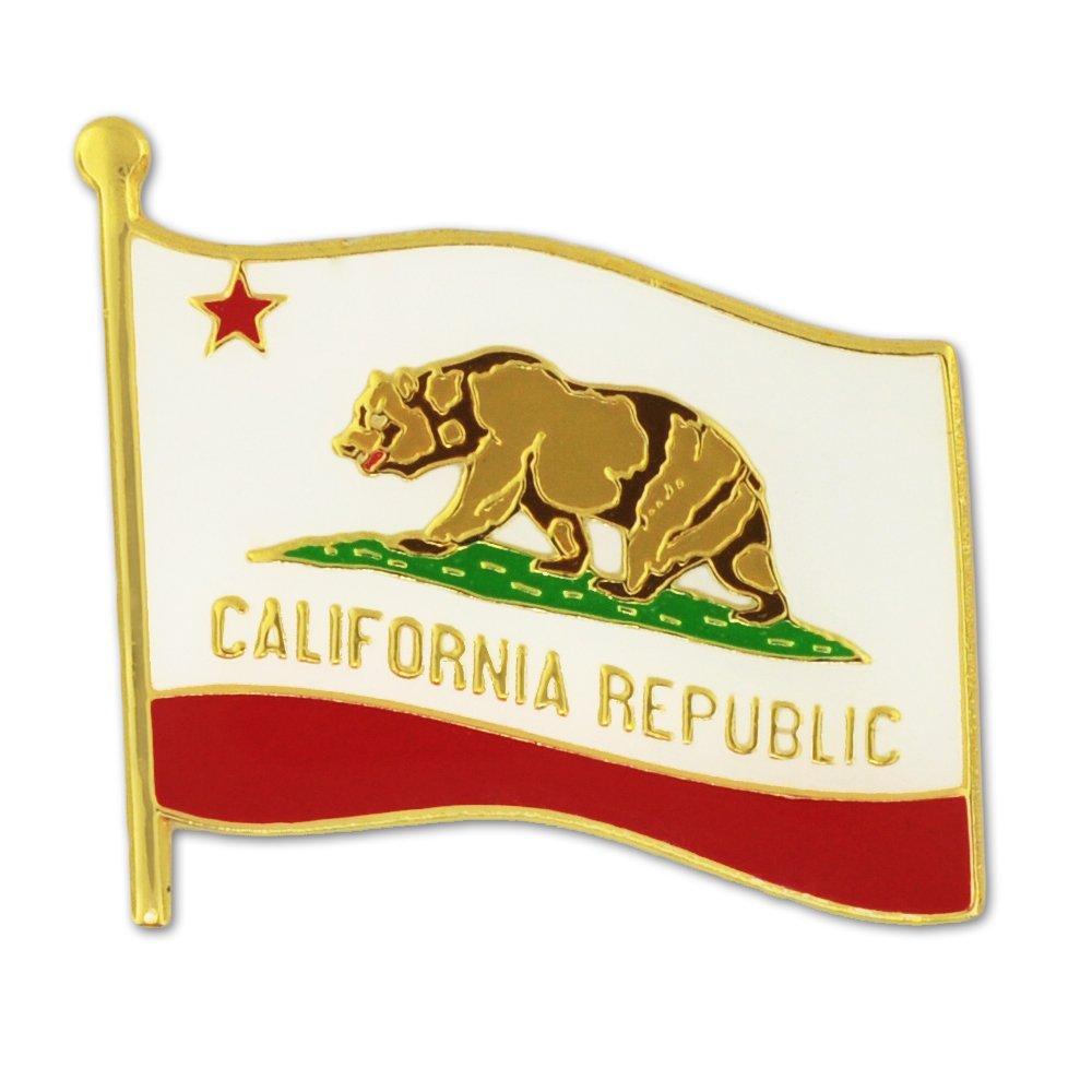 PinMart California US State Flag CA Enamel Lapel Pin 1''