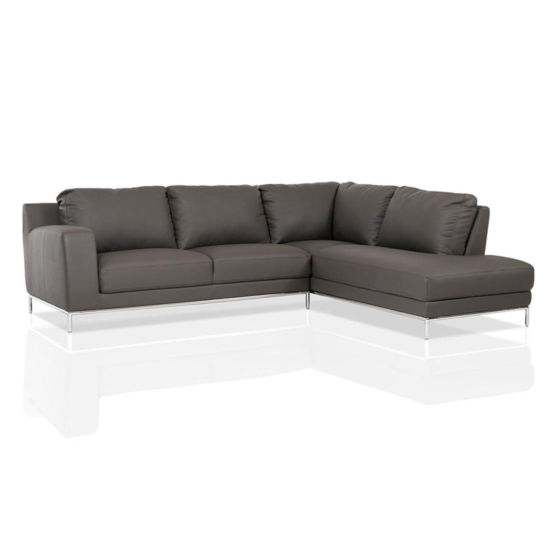 Amazon Divani Casa Primrose Modern Eco Leather Sectional Sofa