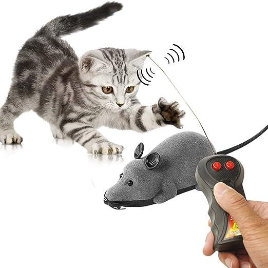 Ailyoo Ratón Juguete para mascotas de gato con mando a distancia para mascotas regalo para niños / peluche para gatos con sonidos de movimiento para mascotas gato perro: Amazon.es: Productos para mascotas