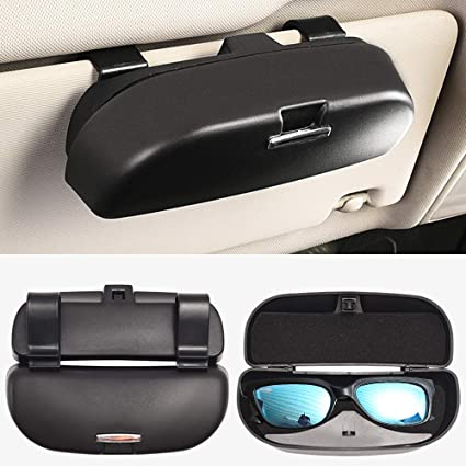 fcf35a58aa7 Amazon.com  HOLDCY Car Sun Visor Glasses Case Clip - Eye Sunglasses Storage  Holder Box - Automotive Accessories ABS 1Pcs Apply to All Car Models  (Black)  ...
