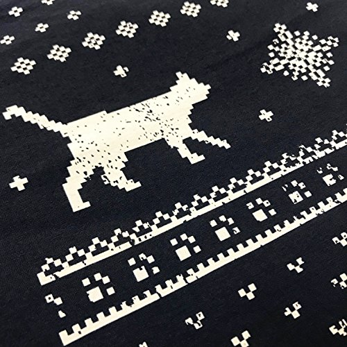 Jolly Damen Leuchtet IM Dunkeln Katzen Weihnachts-T-Shirt