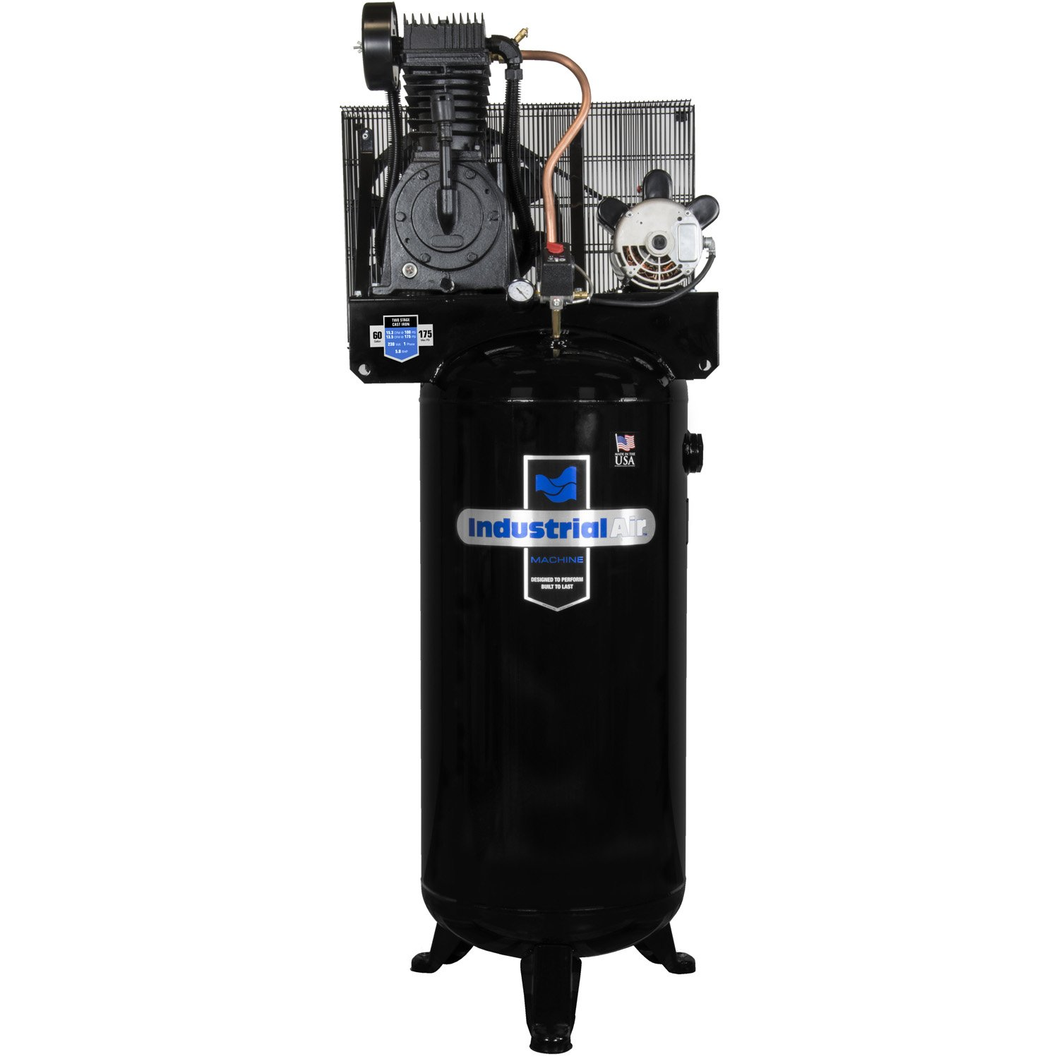 Amazon.com: Industrial Air IV5076055 60 gallon 5 hp Two Stage Air Compressor: Home Improvement