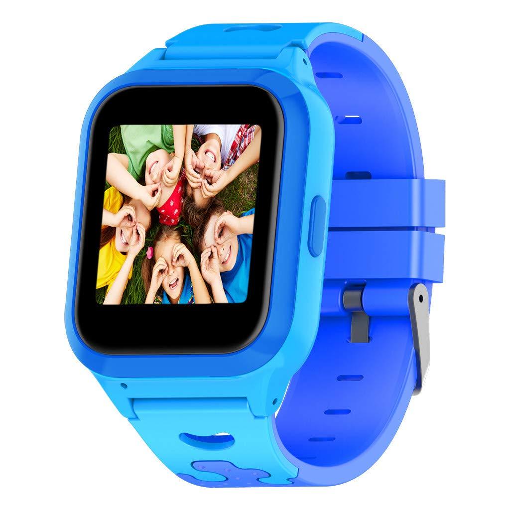 Larmly GPS Smart Watch1.44 inch Anti-lost Smart Watch For Children Girls Boys IP67 Waterproof Silicone Strap (Blue)