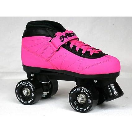 Epic Skates New Custom Epic Nitro Turbo Wildberry Ride Pink & Blk Outdoor Quad Roller Skates