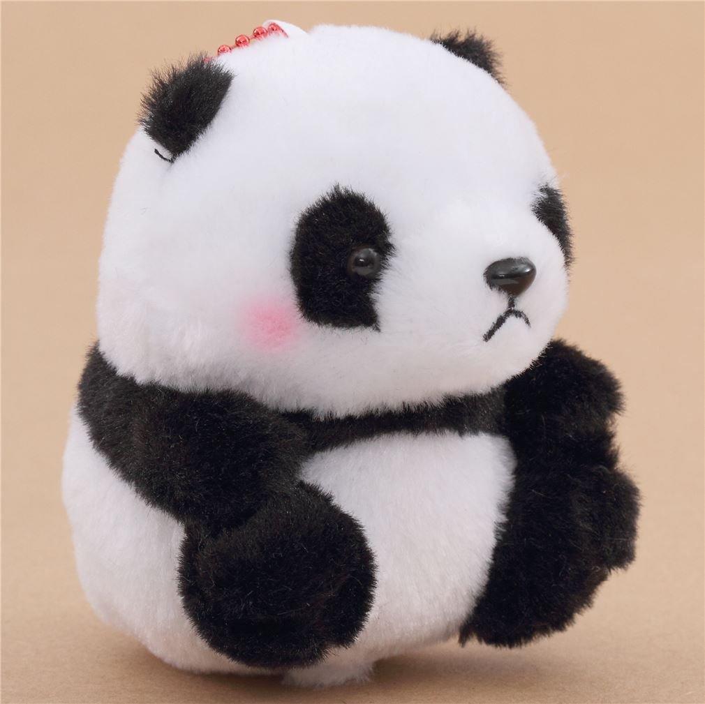 Muñeco de peluche con sonido panda blanco negro con cadena Japón: Amazon.es: Juguetes y juegos