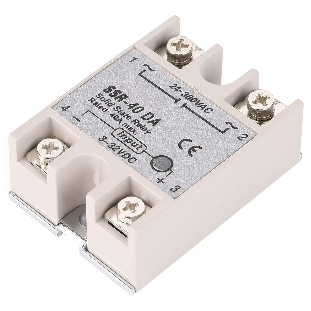 Rel/é de semiconductores 40A rel/é de semiconductores DC-AC monof/ásico SSR-40DA 40A entrada 3-32V DC salida 24-380V AC surtido de componentes electr/ónicos SSR-40DA rel/é