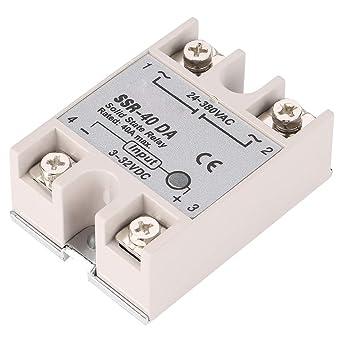 Relé de estado sólido SSR-40DA 40A fase única semiconductor de ...