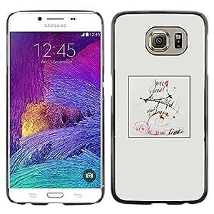 Paccase / SLIM PC / Aliminium Casa Carcasa Funda Case Cover para - Letter C - Samsung Galaxy S6 SM-G920