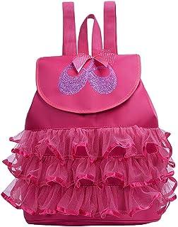 Borsa da Ballo per Bambini - Belegao Dance Bag Girls Personalised Ballet Borsa da Ginnastica Borsa Sportiva Zaino Portaoggetti Regolabile per Ragazza Regalo di Compleanno Rosa