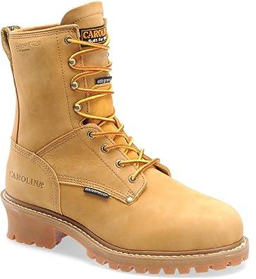 Amazon.com | Carolina Boots Men Steel Toe Waterproof Insulated Loggers  CA5826 | Industrial & Construction Boots