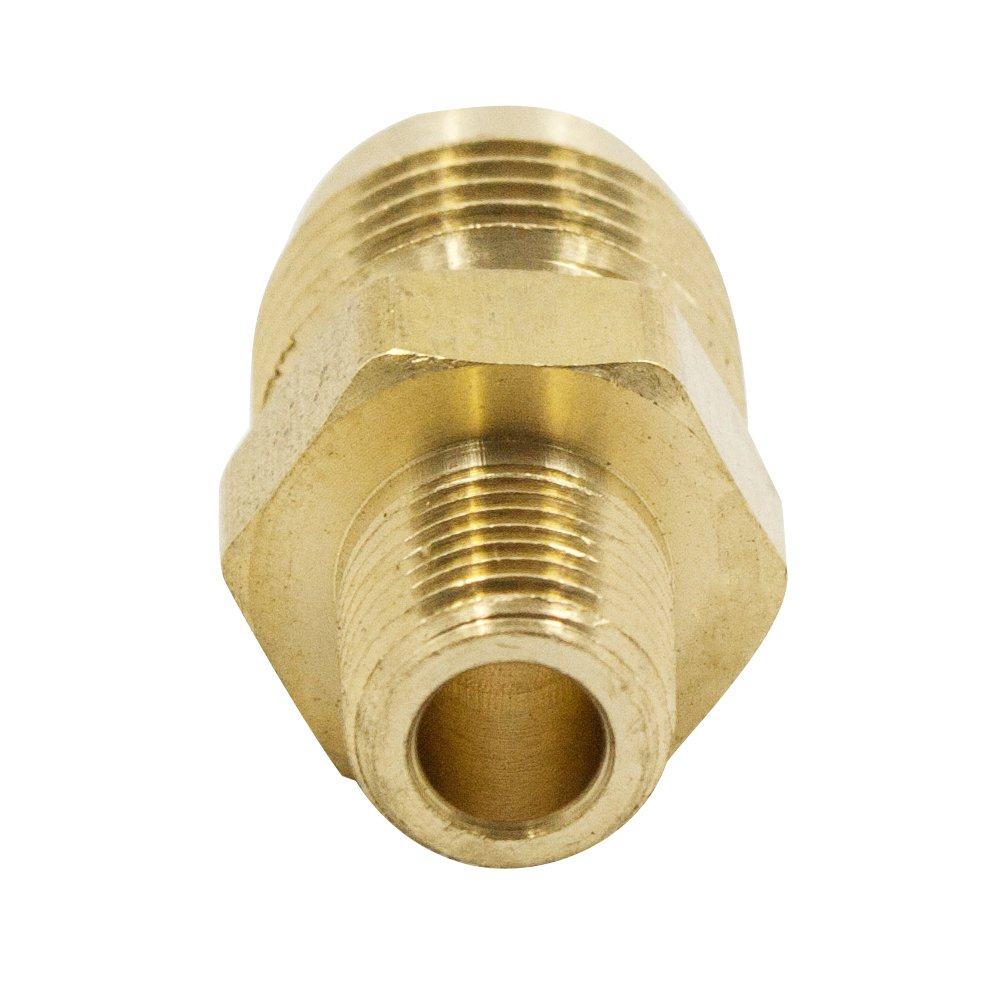 Pack of 2 SAE 45 Degree Flared Legines Brass Flare Fitting Half Union 1//4 Tube OD x 1//8 NPT Male