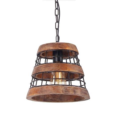 Wood And Metal Chandelier Iron Net Frame Rustic Chandelier Lighting Metal Pendant Light Retro Ceiling Light