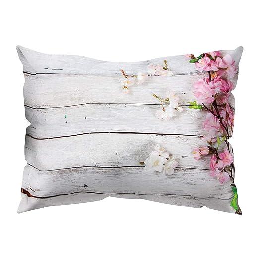 Hffan - Funda de cojín con impresión de Flores, para sofá ...