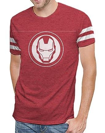 f3ca6cc83444 Marvel Comics Avengers Infinity War Iron Man Varsity Logo Mens T-Shirt (XL)