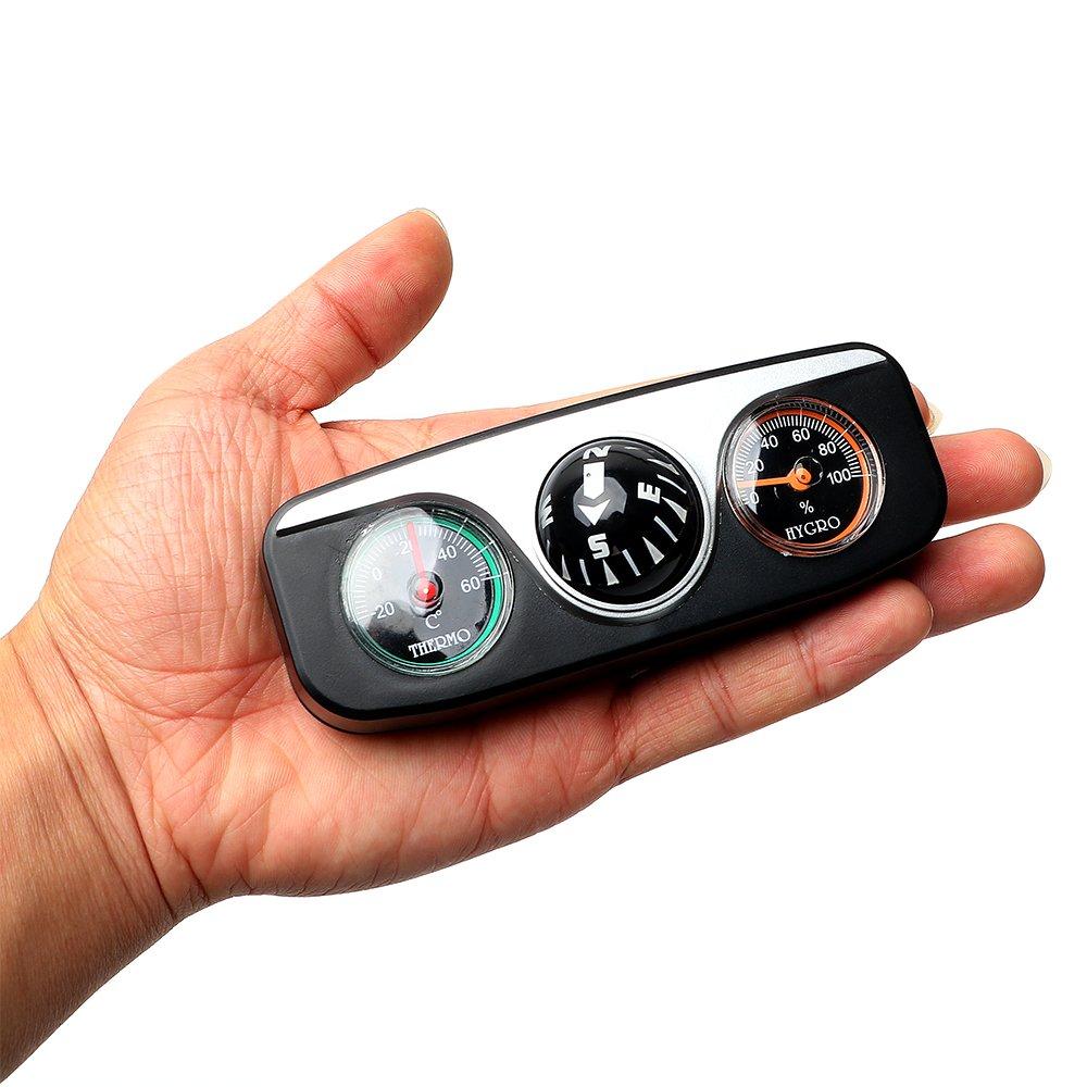br/újula 3 en 1 NOPNOG Term/ómetro para interior de coche