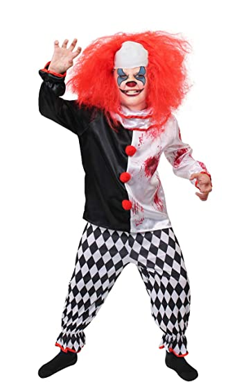 Kinder Horror Clown Kostum Verkleidung Zirkus Fasching Halloween