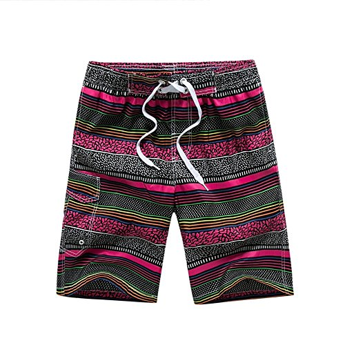 Rapide Séchage Section De Bolawoo Chic Style Chinois Survêtement Shorts Mode Lâche Plage Pink Hommes Taille National Marée Pantalon 77 Droite Été Vent TTqUf