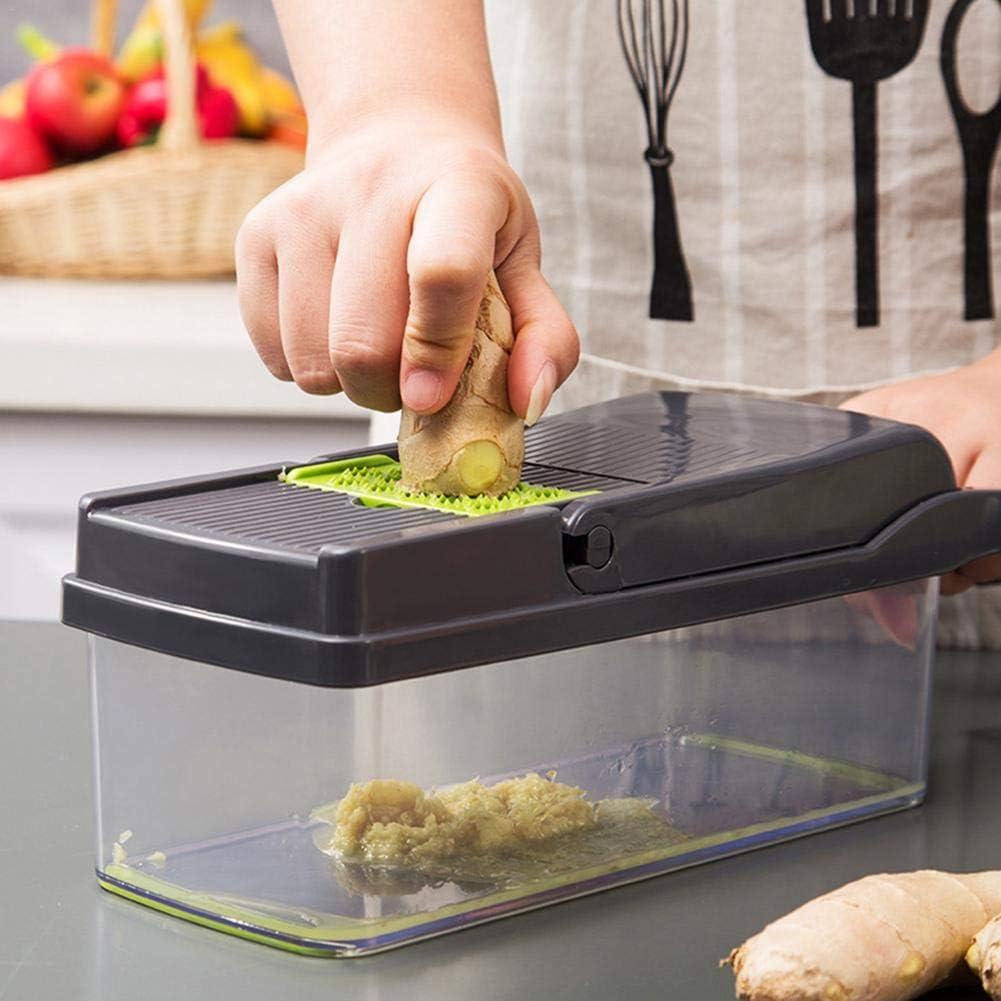 outil de cuisine r/églable avec lames multifonction Hachoirs tranc en d/és coupe-l/égumes r/églable Hachoirs /à l/égumes d/échiquet/és trancheuse de l/égumes 7 en 1 Mandoline Cuisine Multifonction