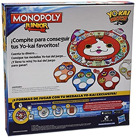 Monopoly - Junior Yokai Watch (Hasbro B6494105): Amazon.es: Juguetes y juegos