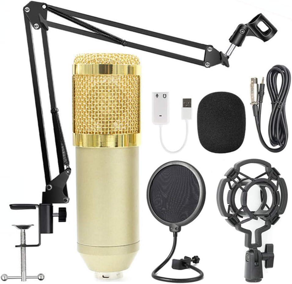 Docooler BM800 Professionelle Suspension Mikrofon Kit Studio Live Stream Broadcasting Aufnahme Kondensatormikrofon Set