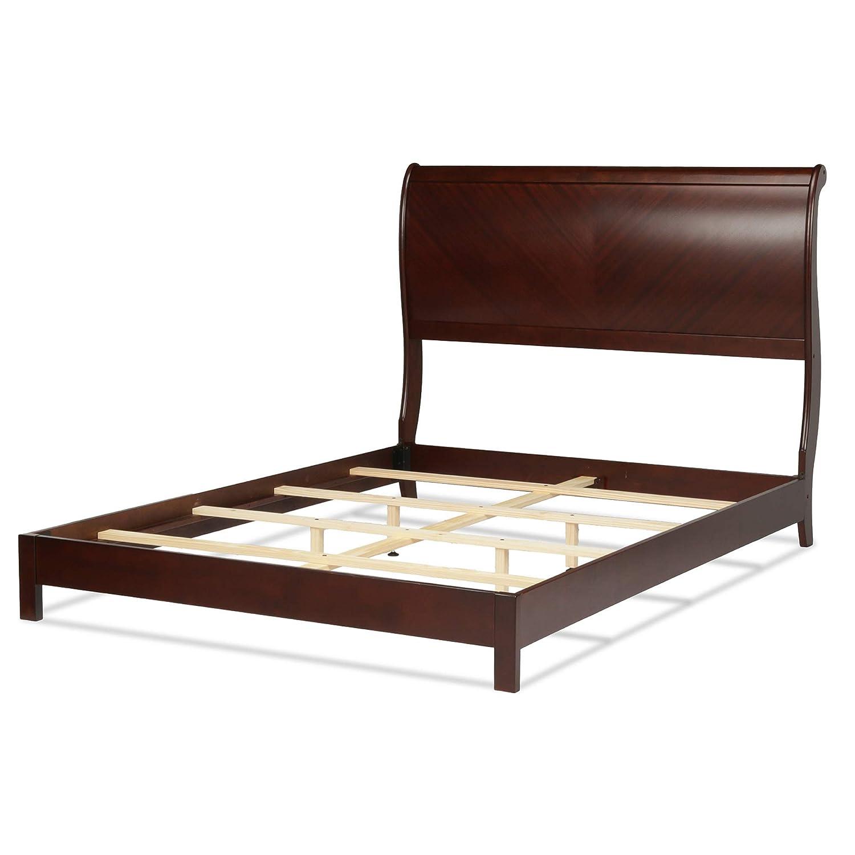 Amazon.com: Leggett U0026 Platt Bridgeport Complete Wood Bed And Bedding  Support System With Curved Sleigh Headboard, Espresso Finish, King: Kitchen  U0026 Dining