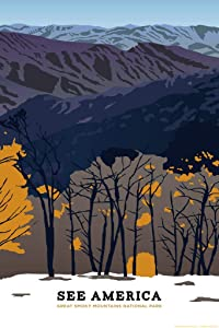 Great Smoky Mountains National Park by Emily Kelley Creative Action Network See America National Parks Travel Retro Vintage Style Cool Wall Decor Art Print Poster 24x36