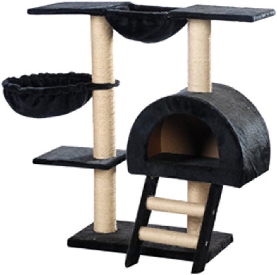 Festnight Rascador Para Gatos 105cm Color Azul Oscuro Felpa Torre ...