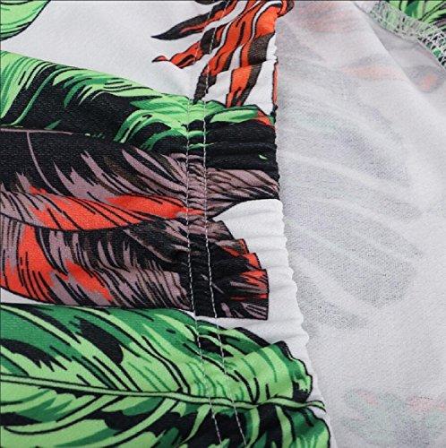 Jaycargogo Florale Bustier De Robes Sexy Mini-tubes Moulante Club Épaule Femmes Vert