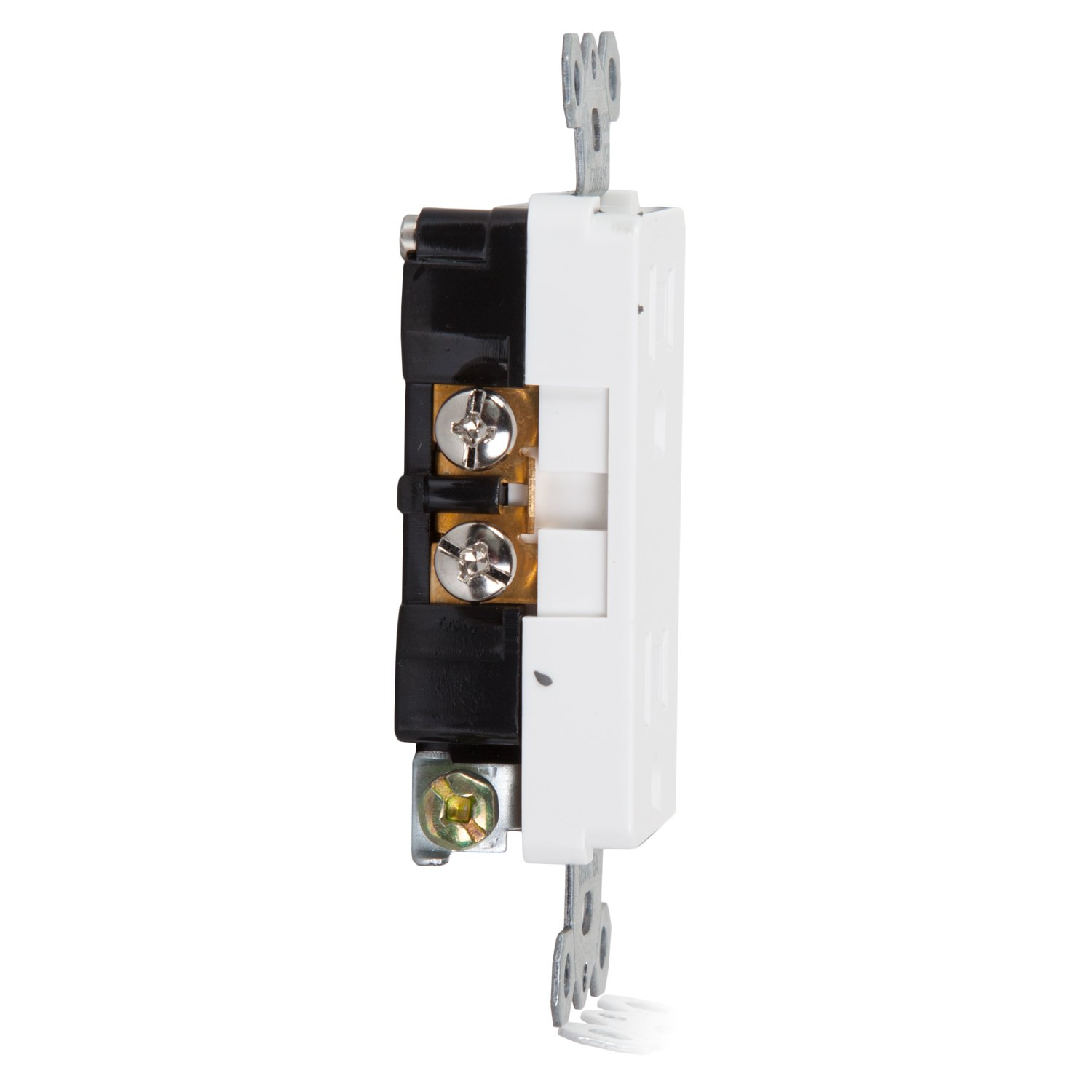 Maxxima Tamper Resistant Duplex Receptacle Standard Decorative Ground Fault Circuit Interrupter With Cover White20amp Outlets Electrical Wall Outlet 15a White Plates Included Pack Of 10