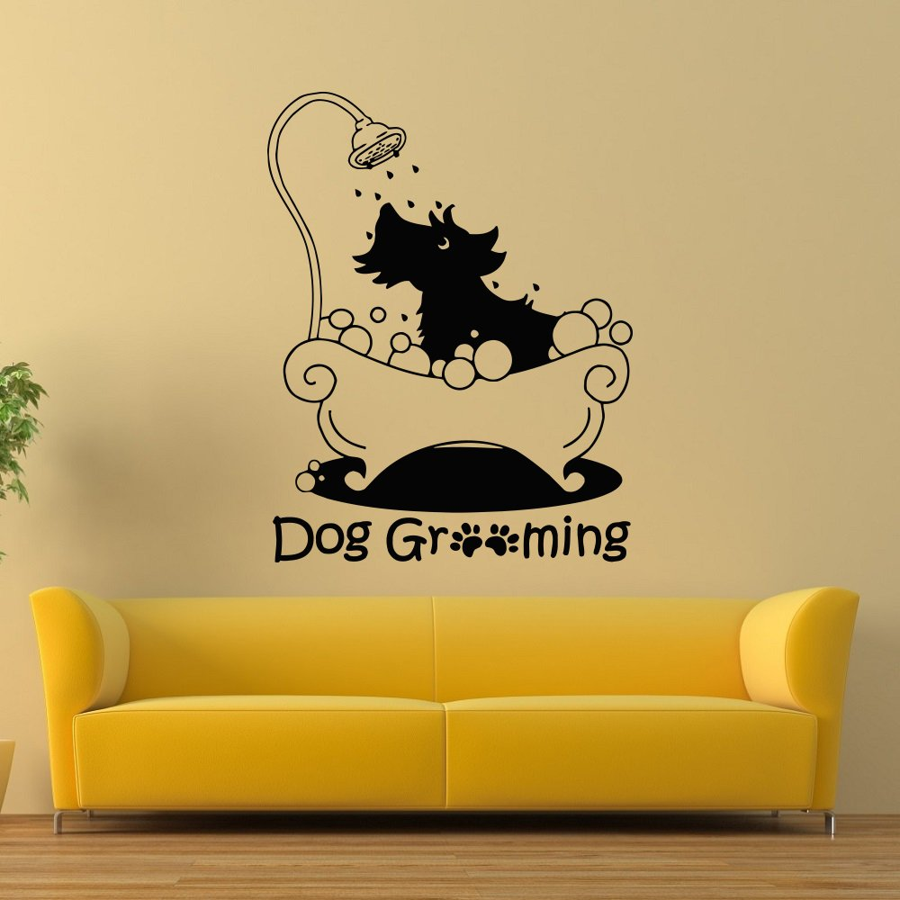 Amazon.com: Dog Grooming Wall Decal Pet Grooming Salon Decals Vinyl ...