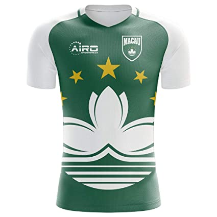 49fc37897 Image Unavailable. Image not available for. Color: Airo Sportswear 2018-2019  Macau Home Concept Football Soccer T-Shirt Jersey