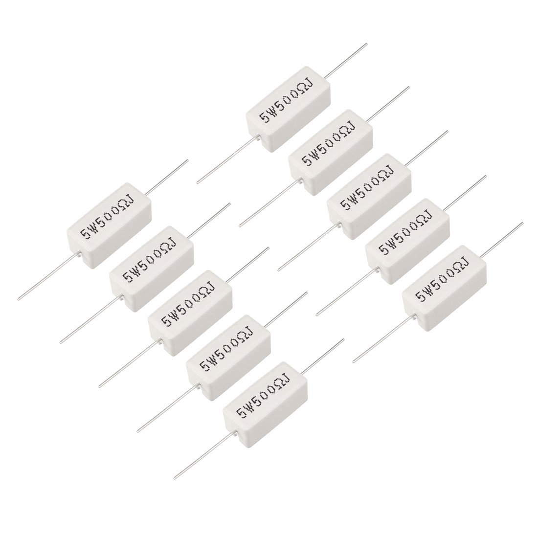 uxcell 20W 4 Ohm Power Resistor Ceramic Cement Resistor Axial Lead White 5pcs a18040400ux0063