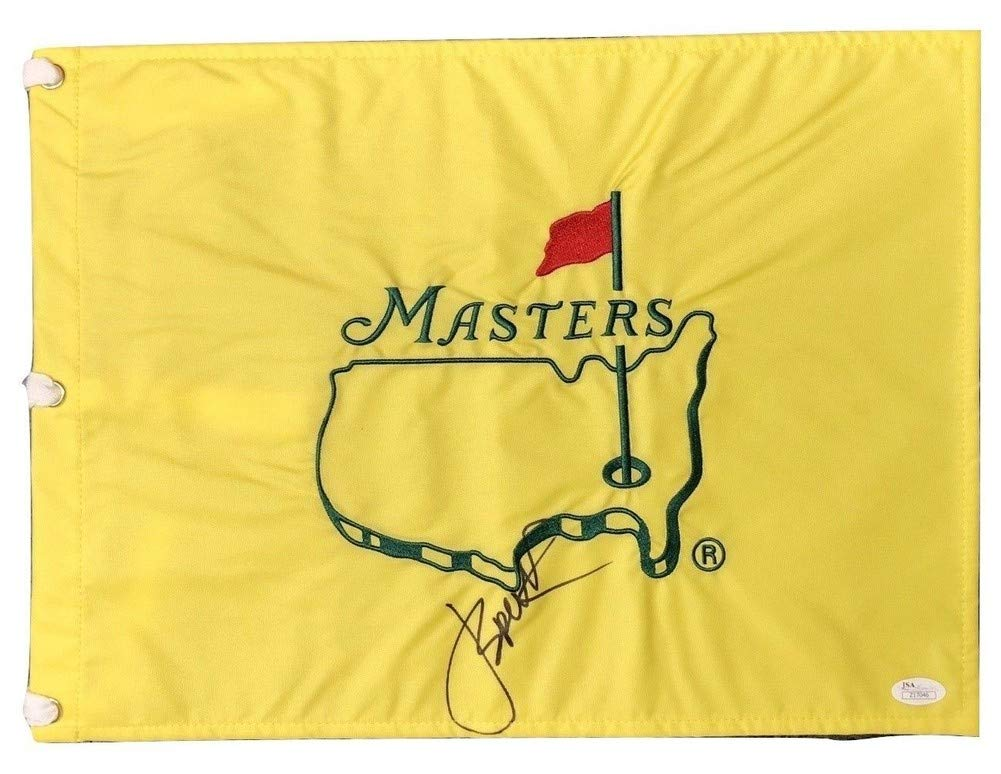 Jordan Spieth Autographed Signed Masters Flag JSA Authentic