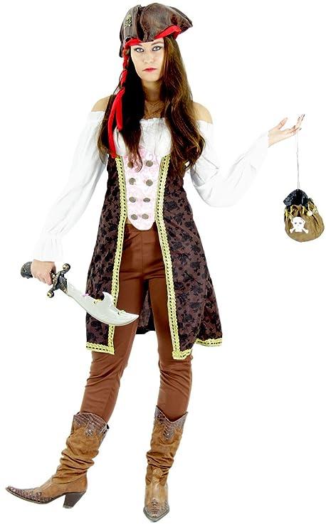 Foxxeo Traje de Pirata para el Carnaval de señoras Carnaval Pirata ...