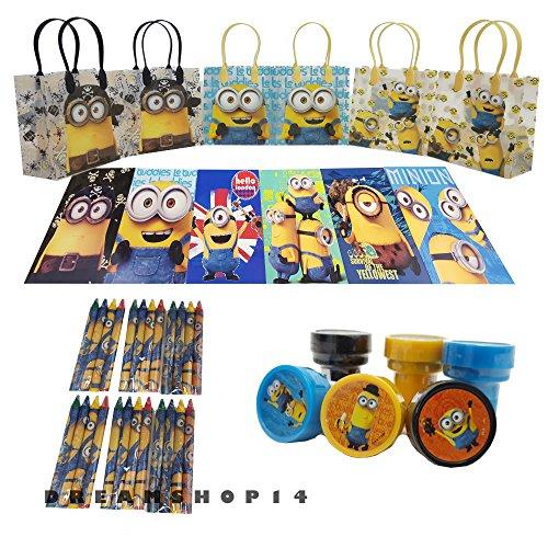 Disney's Minions Party Favor Coloring Book Set (42 Pcs) by Dreamshop14 (Minions Party Ideas)
