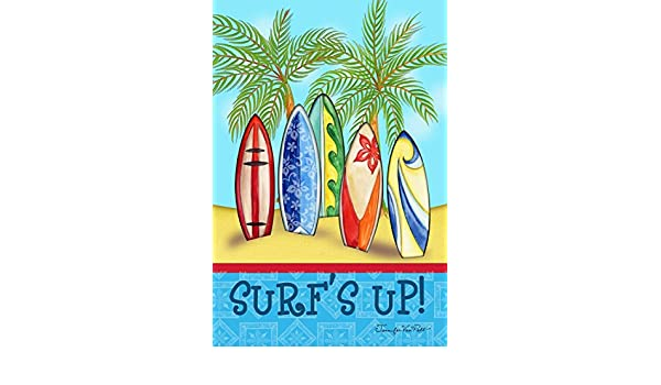 DIYCCY Surf Up - Palmera Decorativa para Tabla de Surf de Verano Tropical, árbol de Palmas y Jardín (12, 5 x 18 Pulgadas): Amazon.es: Jardín