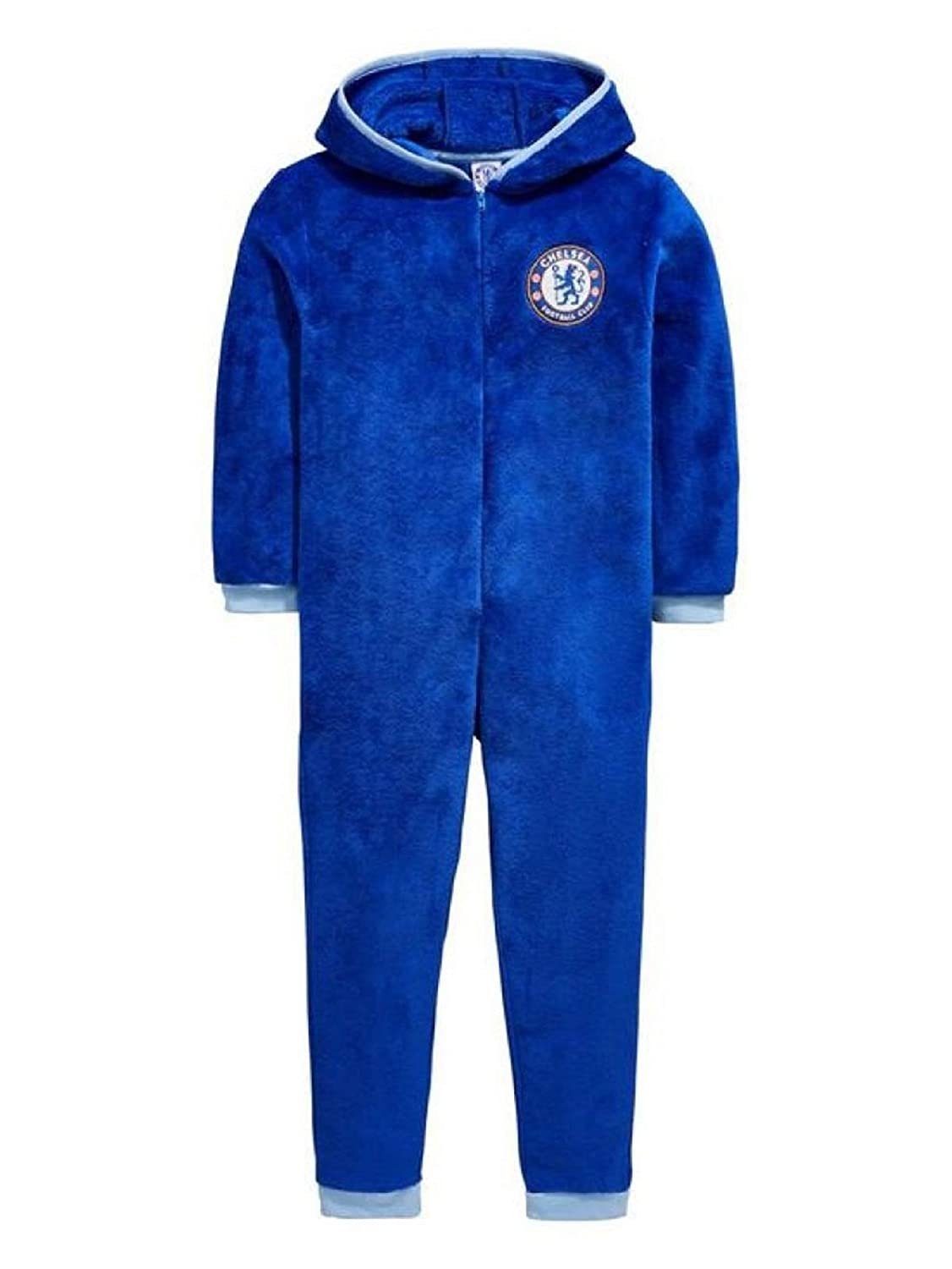 Boys Official Chelsea Football Club Fleece Hooded All in One Age 3-12 Years