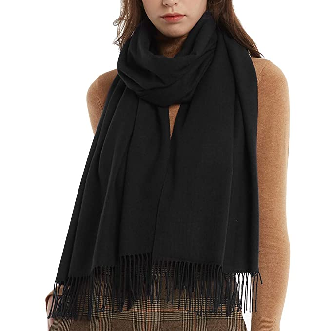 50e451772 Image Unavailable. Image not available for. Color: Womens Winter Scarf  Cashmere Feel Pashmina Shawl Wraps Soft ...