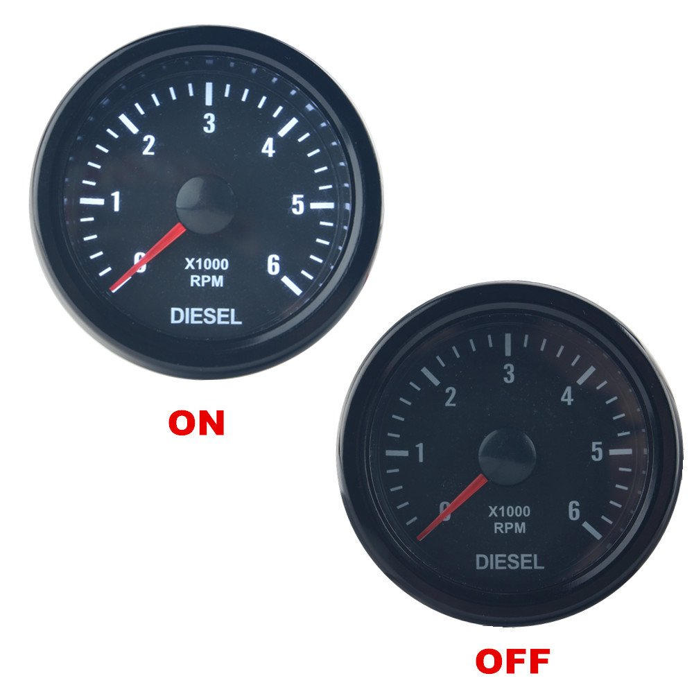 Dewhel Universal 52mm 2 Vision Black Diesel 6k Speed Auto Meter Tach Wiring For Pinterest Rpm 6000 Electrical Tachometer Tachos Rev Counter Gauge Whiter Led Jdm Sport Kit Car