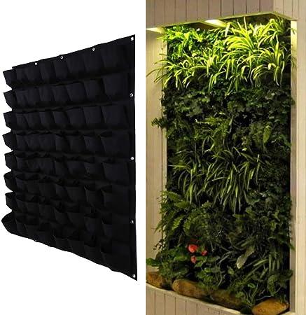 Amazon Com 64 Pockets 39x39inch Fabric Wall Planter Wall Hanging
