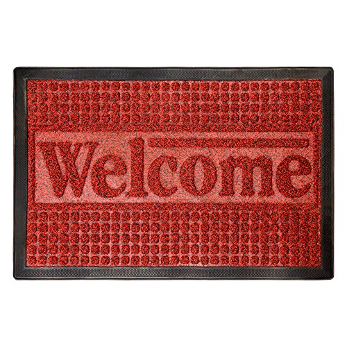 Cheap  Door Mat Indoor/Outdoor Welcome Mat- Nonslip Rubber with Low Profile, Modern Design..