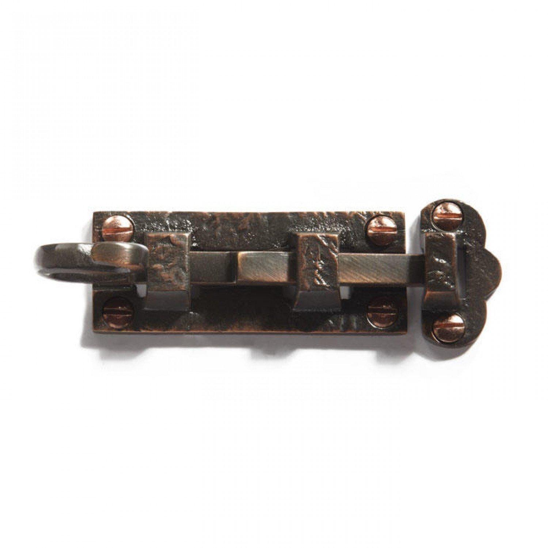 Casa Hardware Solid Brass Detailed Slide Bolt - Oil Rubbed Bronze