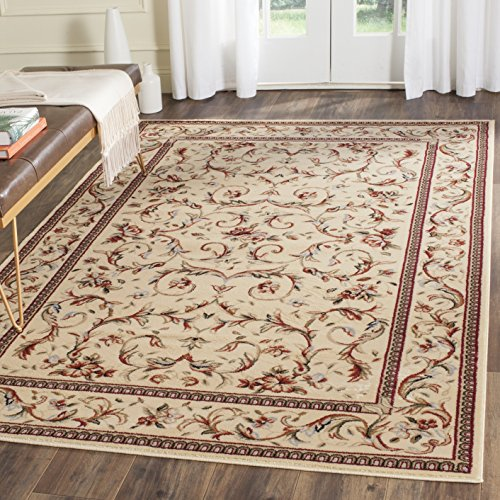 Safavieh Lyndhurst Collection LNH322A Traditional Scrolling Vines Ivory Area Rug (5'3