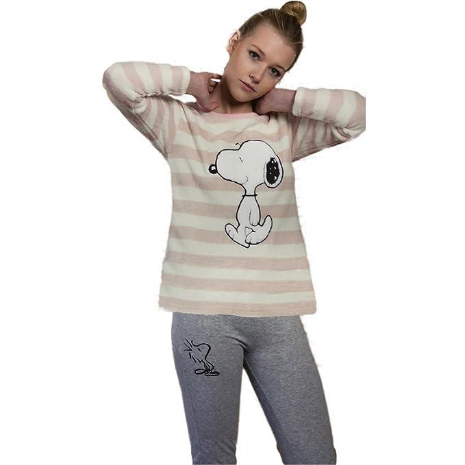Pijama SNOOPY Mujer Camiseta Coralina y Pantalón Algodón (S)