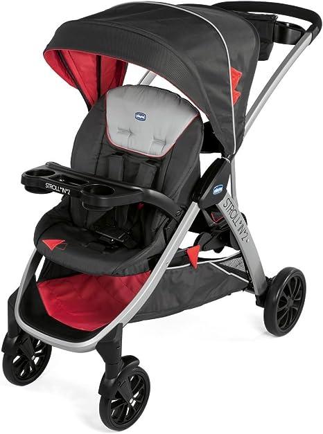Opinión sobre Chicco Stroll'n'2 Silla de paseo para dos niños con asiento y patinete trasero, color negro y rojo (Lava)
