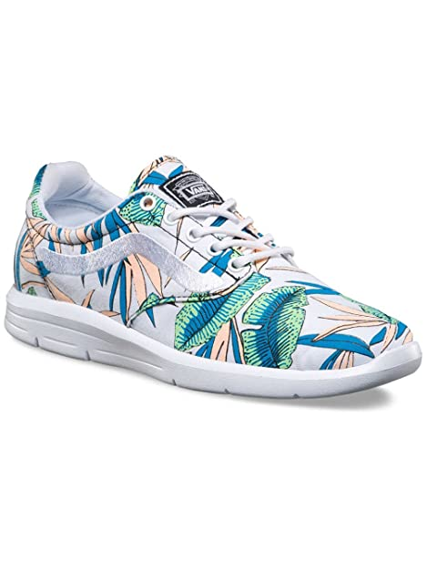 93365ed07d Image Unavailable. Image not available for. Color  Vans Unisex ISO 1.5  Tropical Leaves Shoes-True White True ...