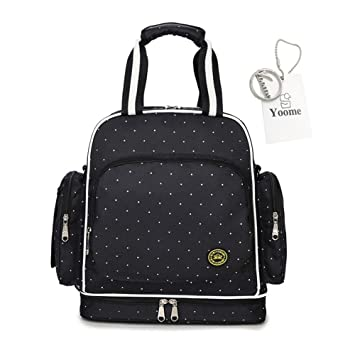 Amazon.com  Yoome Mummy Waterproof Multifunctional Diaper Bag Large Size  Backpack Nappy Bag Convertible Nursing Bag for Baby Care  yoome dc727abeb427f