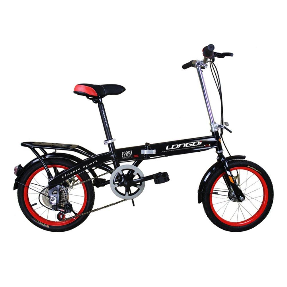 XQ チャイルドフォールド可変自転車16/20インチ大人のダンピング男性と女性のタイプの学生自転車 子ども用自転車 ( 色 : ブラック , サイズ さいず : 16-inch ) B07CJMBB7C 16-inch|ブラック ブラック 16-inch